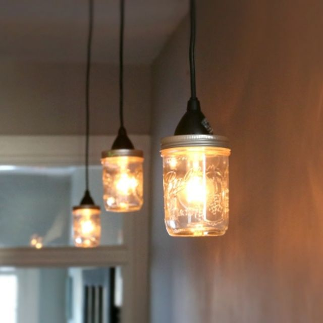 Create Industrial Track Lighting With Mason Jar Pendant Lights   eHow Home   eHow
