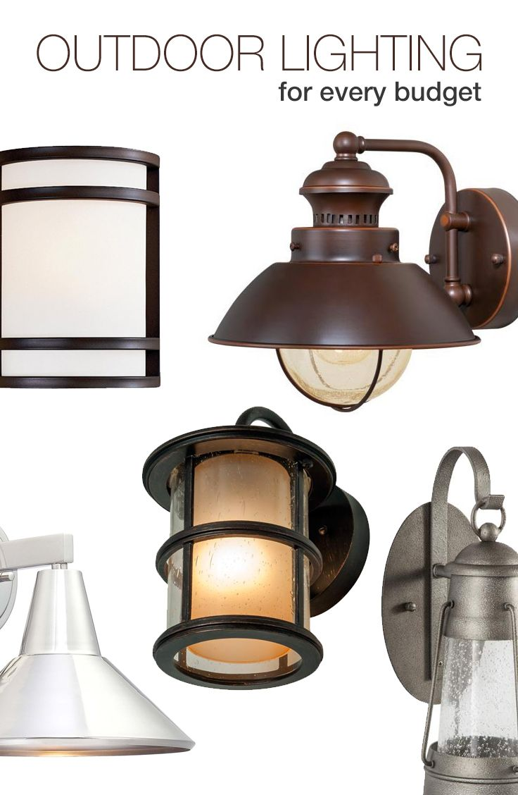 Spring and summer are right around the corner and you can upgrade your outdoor space with these favorite outdoor lights that fit every budget.