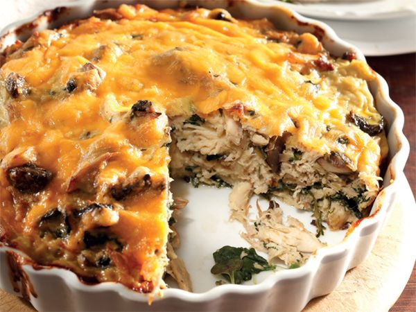 Healthy chicken pie