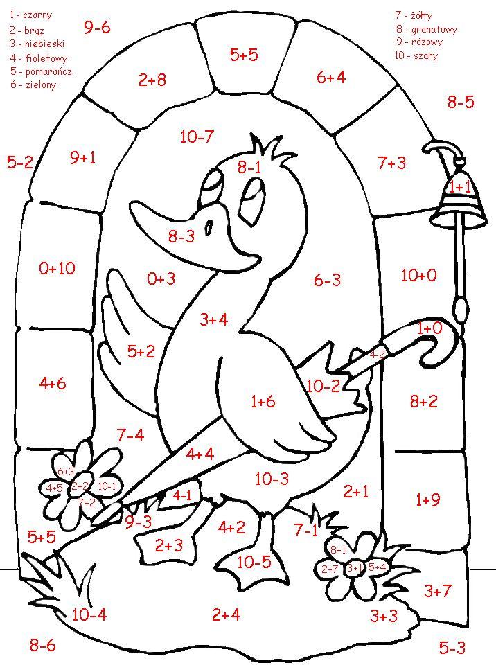 Kolorowanki Matematyczne Zadania Matematyczne Matematyka