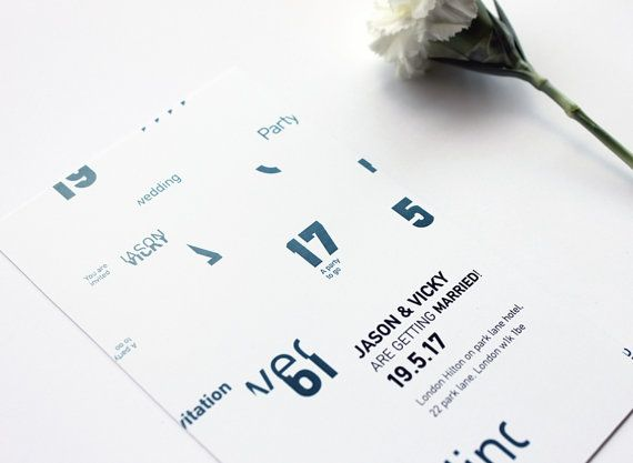 Typography wedding invitation. by MessProject on Etsy, €30.00  #weddinginvitation #weddingprint #wedding #invitation #diy #piy #monogram #savethedate