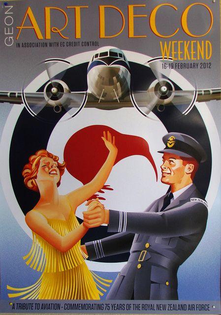 Napier Art Deco Poster