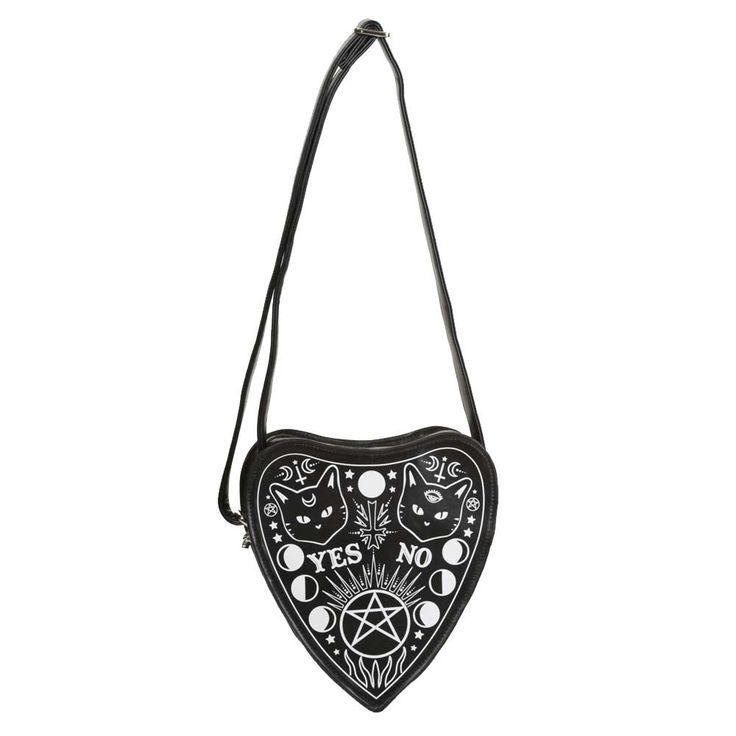 Banned Occult schouder tas zwart - Emo Glamrock - One Size - Banned |