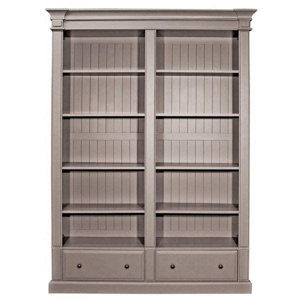 Grey Classic Double Bookcase