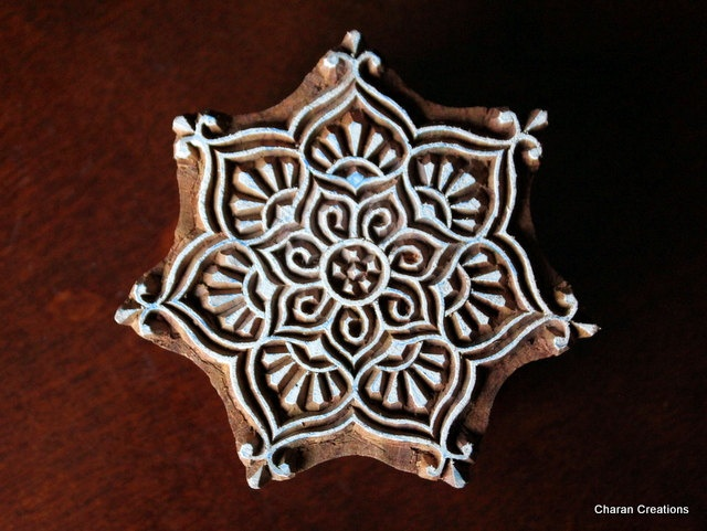Hand Carved Indian Wood Textile Stamp Block by charancreations, $25.00