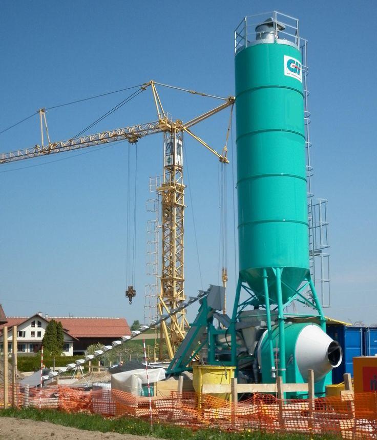 Calculer le coût de production d'un matériau - Une centrale à béton de chantier