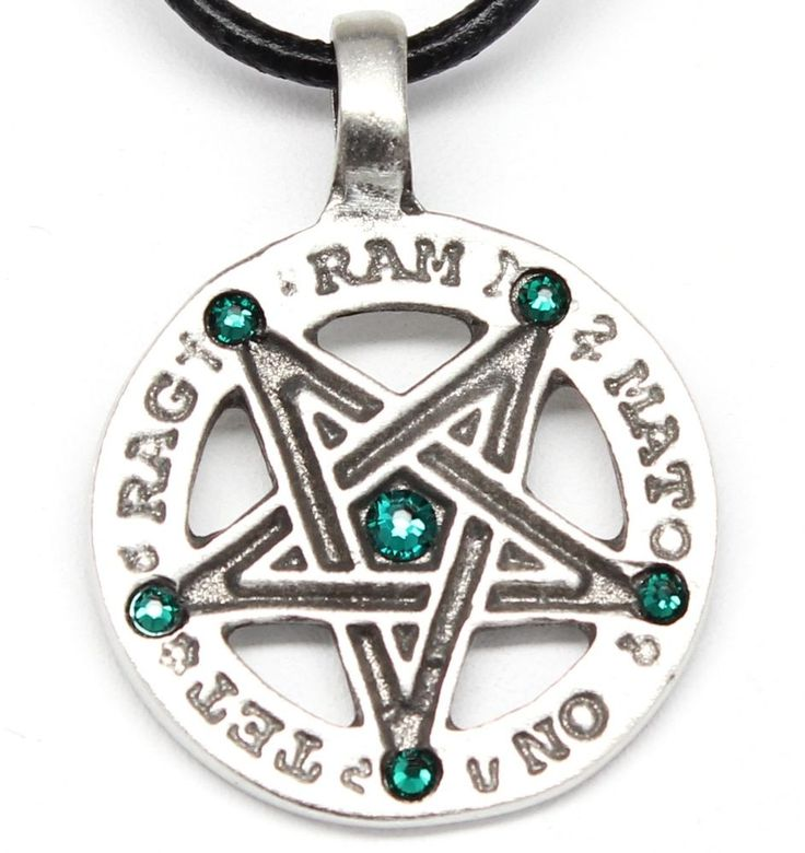 The 7 best inverted pentagram images on pinterest design printing pewter inverted pentagram pagan wiccan emerald crystal may birthstone pendant aloadofball