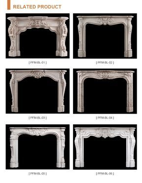 Carved Indoor white marble fireplace, View white marble fireplace, PFM Product D…