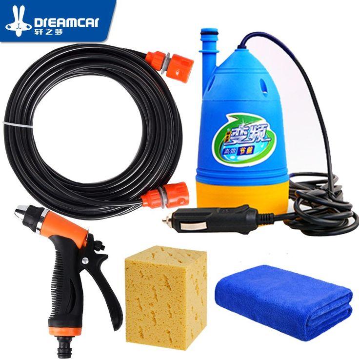 Cheapest prices US $39.50  High pressure 12v washing machine car portable car wash device 220v household washing pump car tools water gun car washer high
