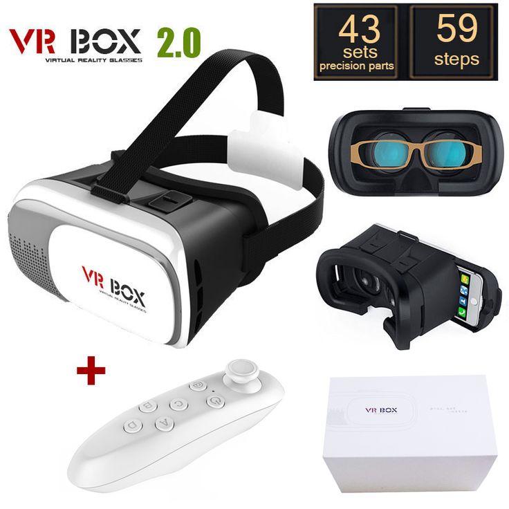 "Original Google Cardboard VR BOX II 2.0 VR Virtual Reality 3D Glasses For 4""-6"" Smartphone + White Bluetooth Gamepad"