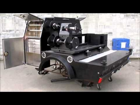 Express Custom Mfg - Rival Squire II 56 Portable WElding Rig Truck Deck - Folka Flame Edition - YouTube