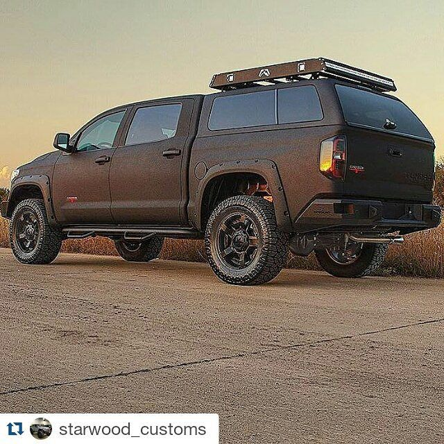#Repost @starwood_customs  Kevlar Painted Tundra..Kevlar special ends January 1st! #Kevlar #tundra #starwoodcustoms #fabfour #xdwheels #customtruck #murderedout #toyota #liftedtrucks  Get your quote today Jhail@starwoodcustoms.com #twitter