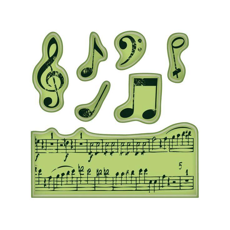 Inkadinkado Cling Stamps Mini - Music Notes
