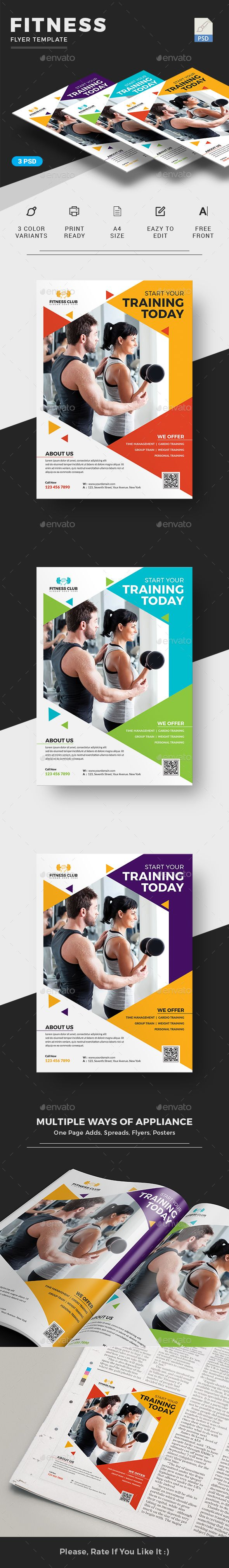 Fitness Flyer - Sports Events | Fitness / Gym Flyer Template Design |  Gym Flyer Template for advertising purpose like newspaper ad or magazine ad | Download  http://graphicriver.net/item/fitness-flyer/16569383?ref=themedevisers