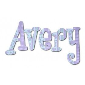 Avery Lavender Fields Hand Painted Wall Letters