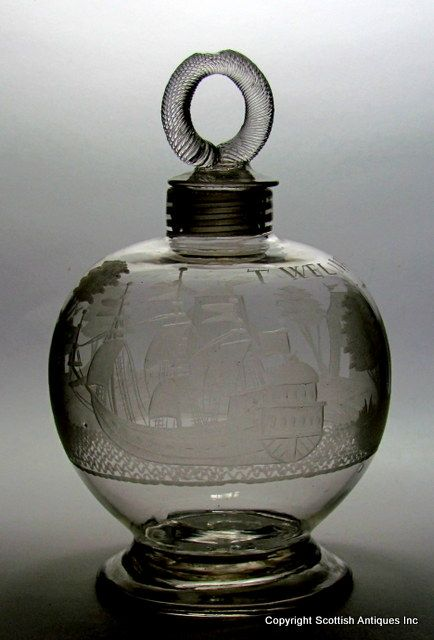 dating cut glass decanters Title: 1840's pair decanter blown cut anglo rare form, price: $650 usd sale, category: glass:by function:decanters:decanter, shop: glass.