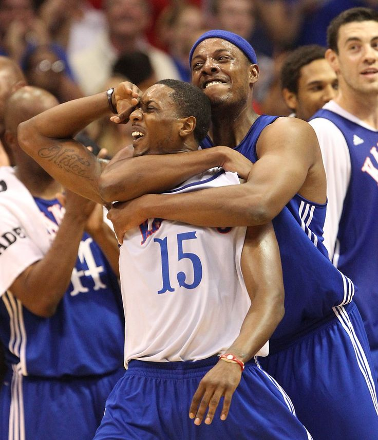 2 of the greatest KU players of all time. Paul Pierce and Mario Chalmers. #miracleshot #thetruth