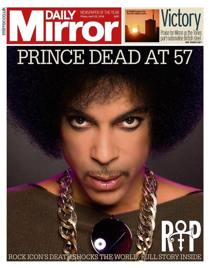 MUSIQUE - L'hommage est unanime. Les unes de la presse du monde entier saluent, vendredi 22 avril, la mémoire du chanteur et musicien de génie Prince, mort jeudi à l'âge de