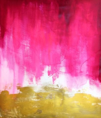 Pink and Gold Abstract