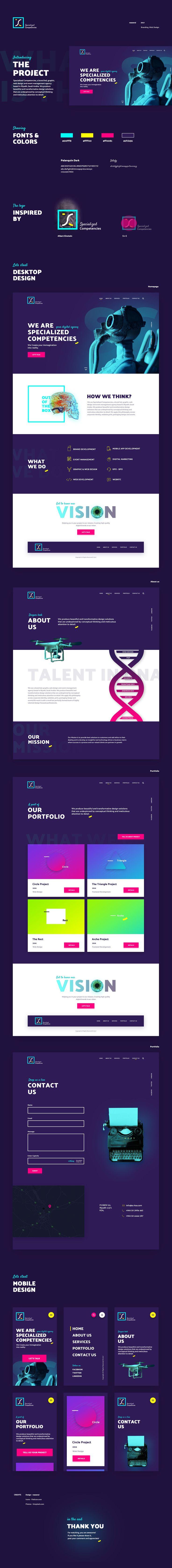 SC --- Webdesign and Branding on Behance
