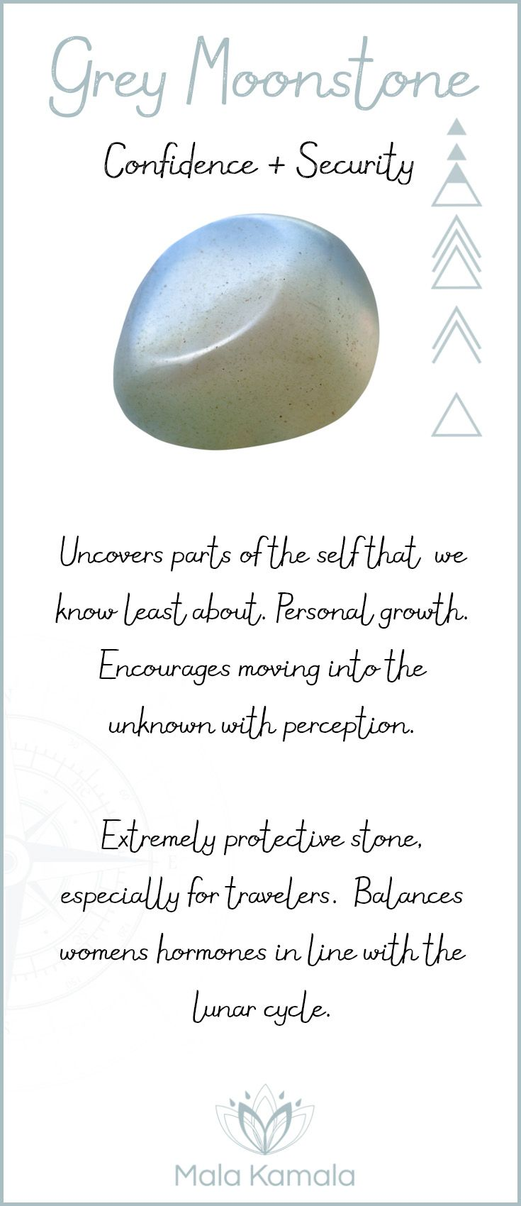 Grey Moonstone ~ Confidence and security