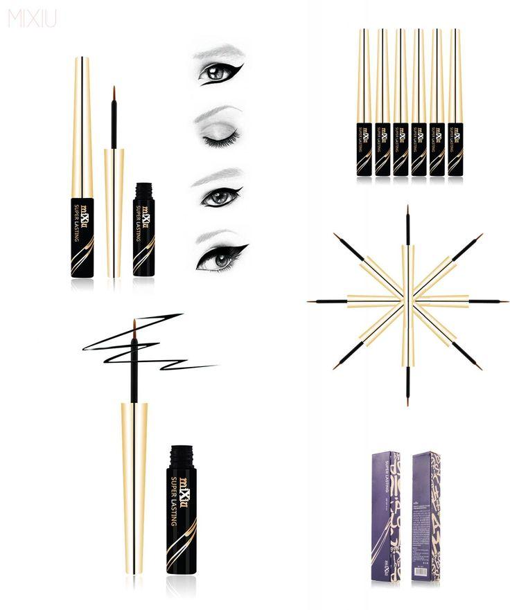 [Visit to Buy] V5 Eyes Makeup 6ML Black Liquid Eyeliner Waterproof Liquid Eye Liner Pencil Cosmetics Long Lasting Matte Eyeliner Brand By MIXIU #Advertisement
