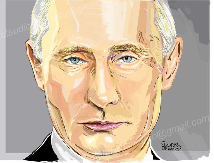 Wladimir Putin- Ilustração digital   desenhos, ilustraçao, caricaturas por encomendas, caricaturas, tags, festas, caricaturas ao vivo, noivos, casamento, retratos, presentes para aniversarios, ideias criativas, presentes personalizados, arte digital, cartoons, desenhos poe encomendas