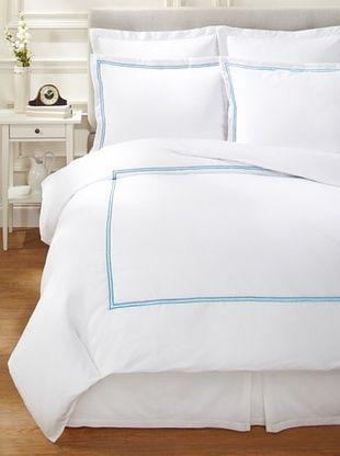 47% OFF Garnier-Thiebaut Nice Hotel Style Duvet Set (White/Blue Sistine)