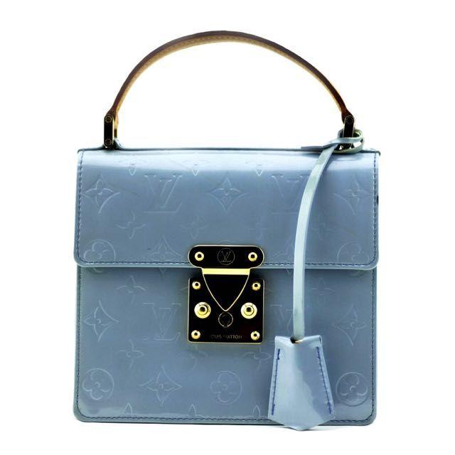 Louis Vuitton Lavender Monogram Vernis Spring Street Tote Bag on Carousell