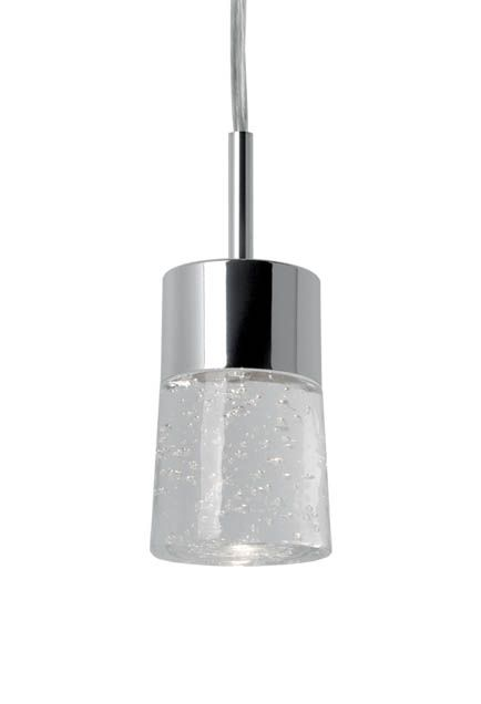 "401161CH-LED - Single Lamp LED Pendant with Bubble Encased Crystals 2 3/4"" x 4 1/2"" 90.98"