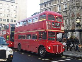 Route 15H is the only route in the London bus system that still uses the old Routemaster double-decker red buses.  The route runs from Trafalgar Square and Tower Hill, including the Tower of London, Monument, St Paul's Cathedral, the Strand, and Charing Cross Station.