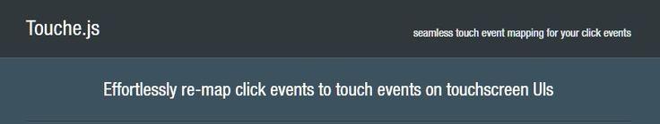 Touche.js : Touch events on Touchscreen - http://jqueryplugins.net/touche-js-touch-events/ #Events, #Touch, #ToucheJs, #Touchscreen