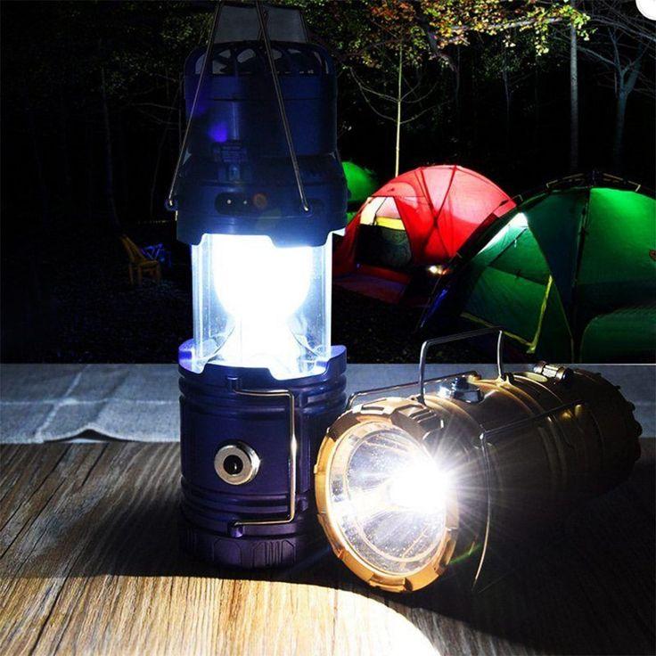 BRELONG LED Solar Powered Fan Camping Light Outdoor Portable Tent Light -