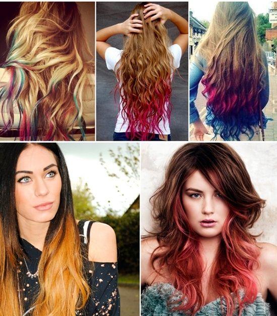 Dip dye hair