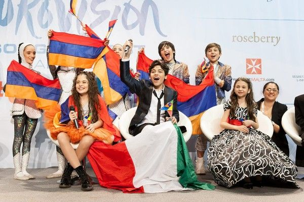Junior Eurovision 2015: 1st place Italy 2nd Bulgaria 3rd Armenia