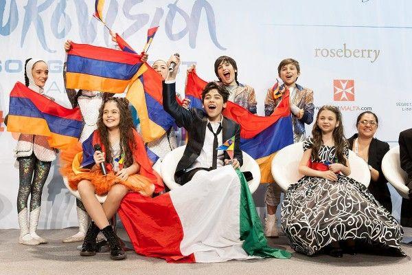 Junior Eurovision 2015: 1st place Italy 2nd Bulgaria 3rd Armenia