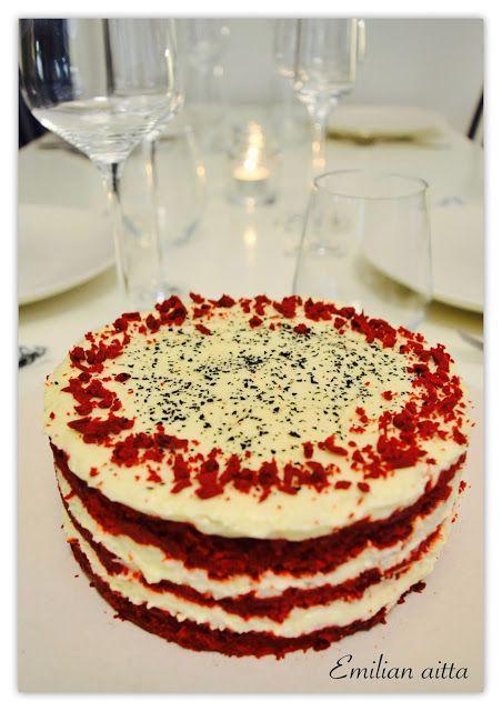 Emilian aitta Gluteeniton Red Velvet cake Gluteeniton Red Velvet kakku