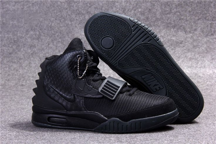 Nike Air Yeezy 2 All Black #Nike #Air #Yeezy #Shoes