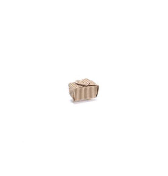 100Pz Scatola cuoricino rustico avana mm. 70 x 40 x 35 H, Scatole Discount.it - Trasparenti, in cartone, portabottiglie, portaconfetti, nastri, bomboniere e ragali