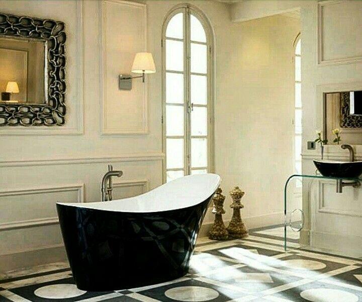 Glossy, Black & Gorgeous Tubs |  #PandayGrpPortfolio #OnlineShopping #Showroom #Boutique #Modern #Traditional #Classic #Decor #InteriorDesigner #Designer #Architecture #Bathroom #CustomHomes