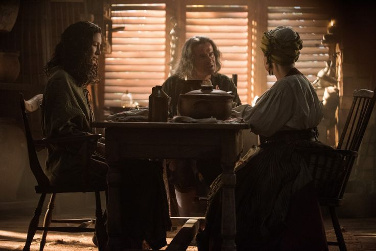New Still of Claire, Father Fogden and Mamacita - Episode 311 Uncharted - Outlander_Starz Season 3 Voyager - November 26th, 2017
