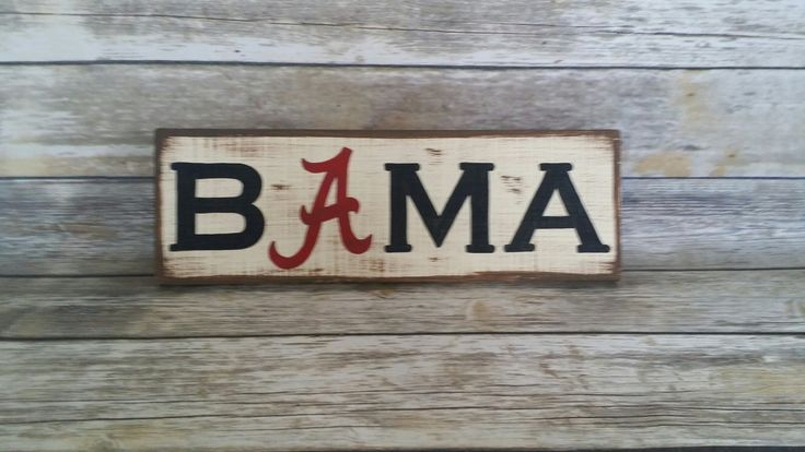 SALE SHIPS FREE Today! Alabama Sign, University of Alabama, Crimson Tide, Roll Tide, Bama, Alabama art, alabama football, bama football by RubyeBegonias on Etsy https://www.etsy.com/listing/488680722/sale-ships-free-today-alabama-sign