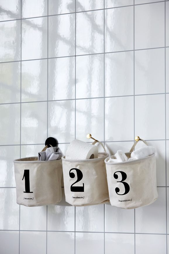 House Doctor - storage Basket 1 2 3 - bathroom