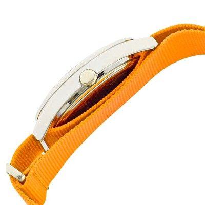 Women's Crayo Sunrise Watch with Nylon Strap and Luminous hands- Orange