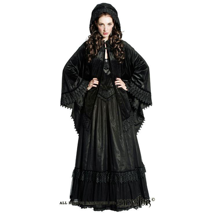 Gothic velvet cloak cape by Sinister (Cape 708) www.sinister.nl