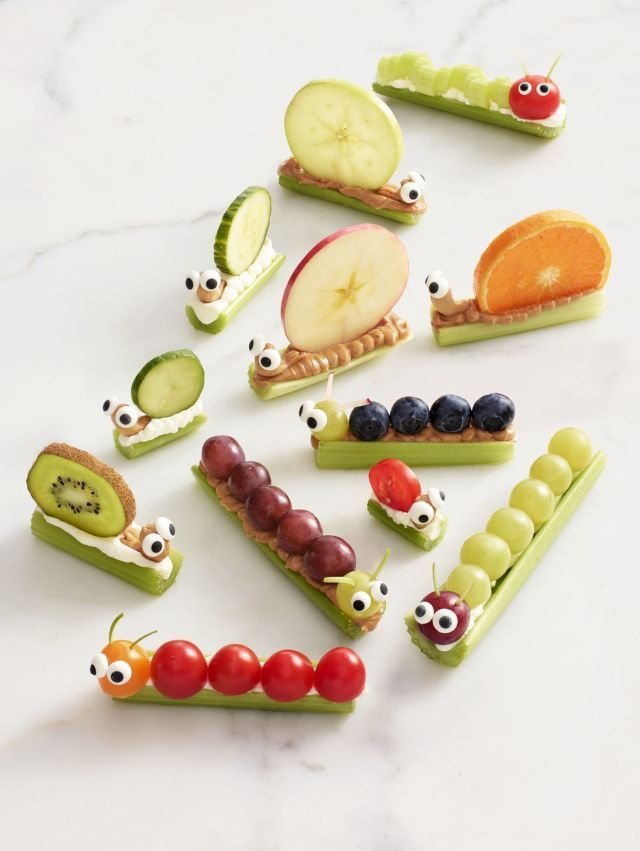 These adorable snacks take ants on a log to the next level. Get the recipe. More