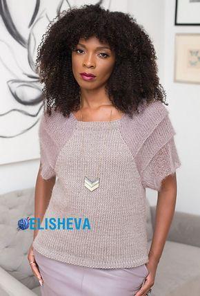 Нарядный пуловер вязаный спицами от Vogue Knitting