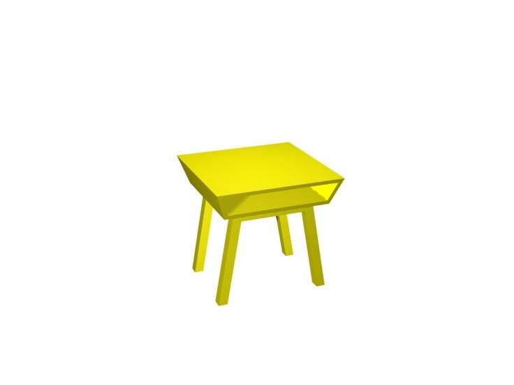 Fint gult sidobord Sidni 13!    Trendy yellow small table. Swedish design by @Björn Welander