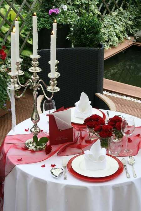 tischdekoration candleligth romantik romantische tischdeko. Black Bedroom Furniture Sets. Home Design Ideas