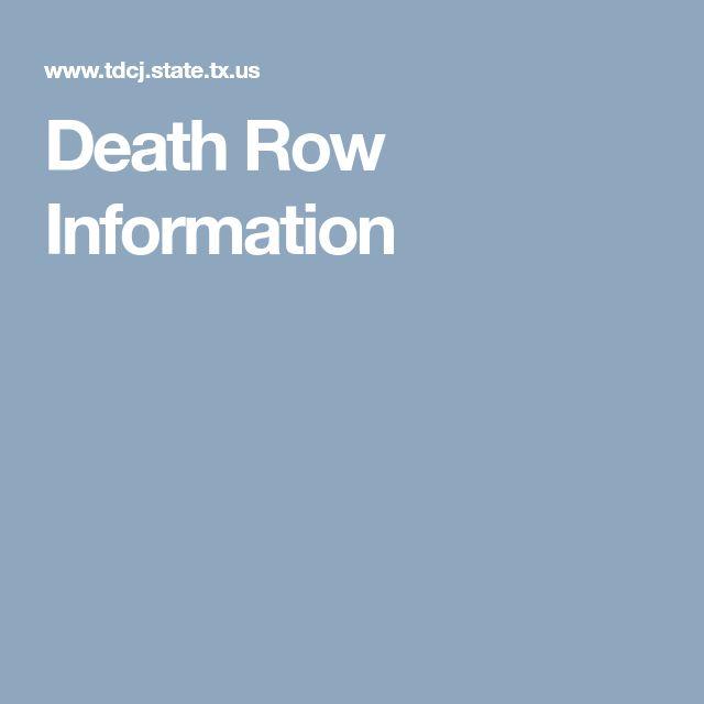 Death Row Information